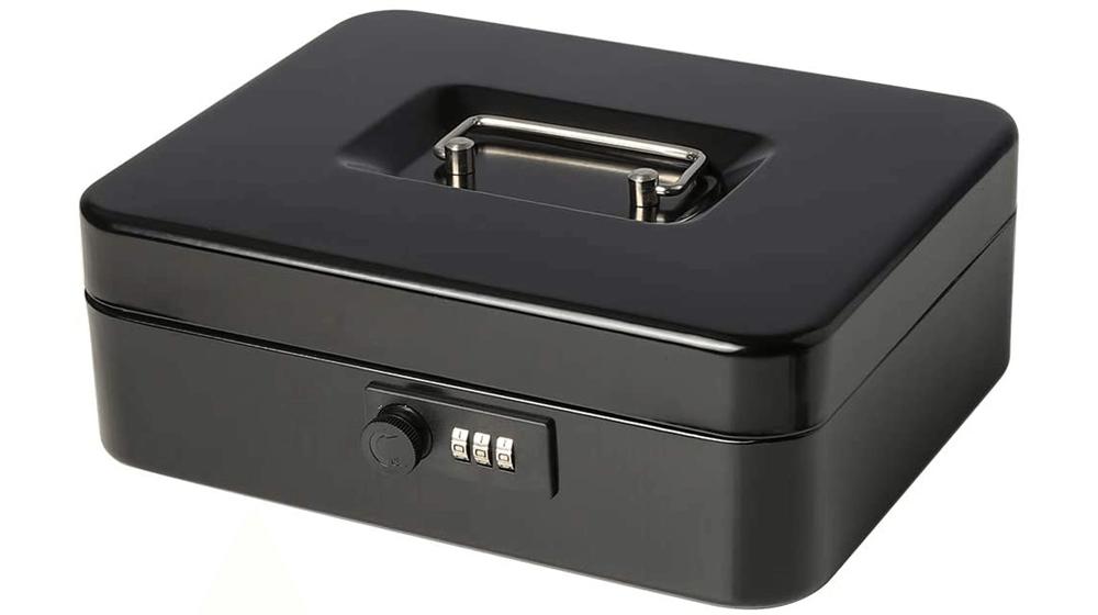 Jssmst Large Cash Box with Combination Lock