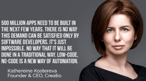 katherine-kostereva- of-creatio-a-about-low-code-no-code-platforms