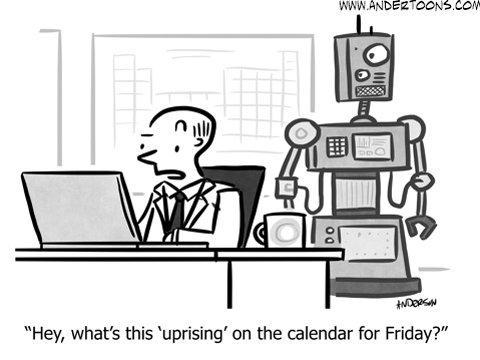 robots small business cartoon