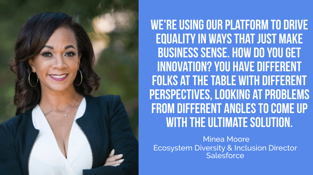Minea Moore of Salesforce: Companies Could be within the Enterprise of Doing Good and Driving Inclusion With out Sacrificing Efficiency