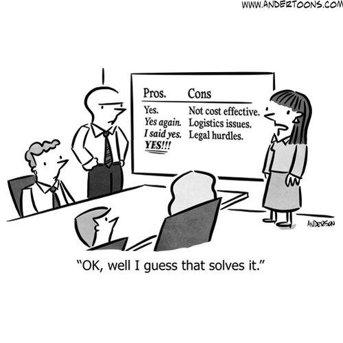 gut instinct business cartoon