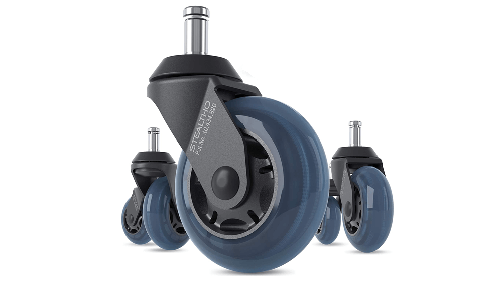 STEALTHO Patented Replacement Office Chair Caster Wheels