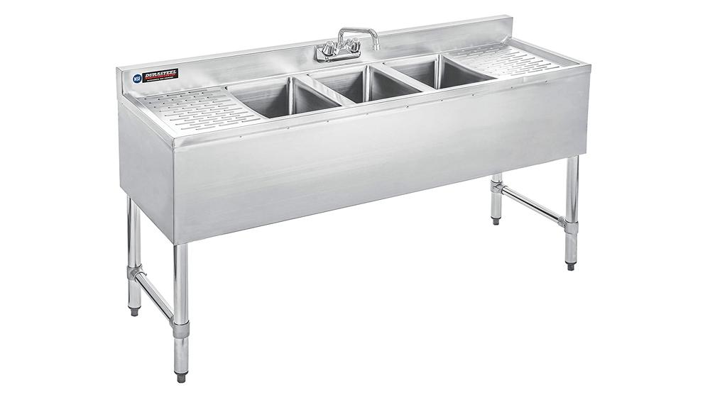 DuraSteel 3 Compartment Stainless Steel Bar Sink