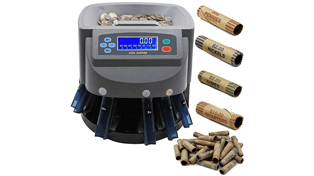 Electronic USD Coin Sorter and Counter with LCD Display