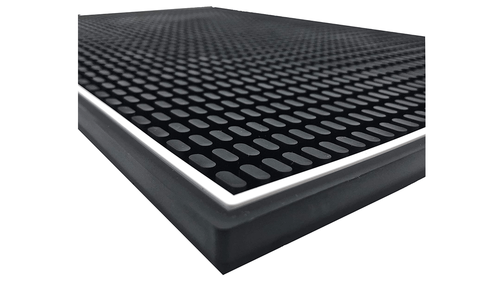 Highball & Chaser Premium Bar Mat 18in x 12in 1cm Thick Durable and Stylish Service Bar Mat for Spills