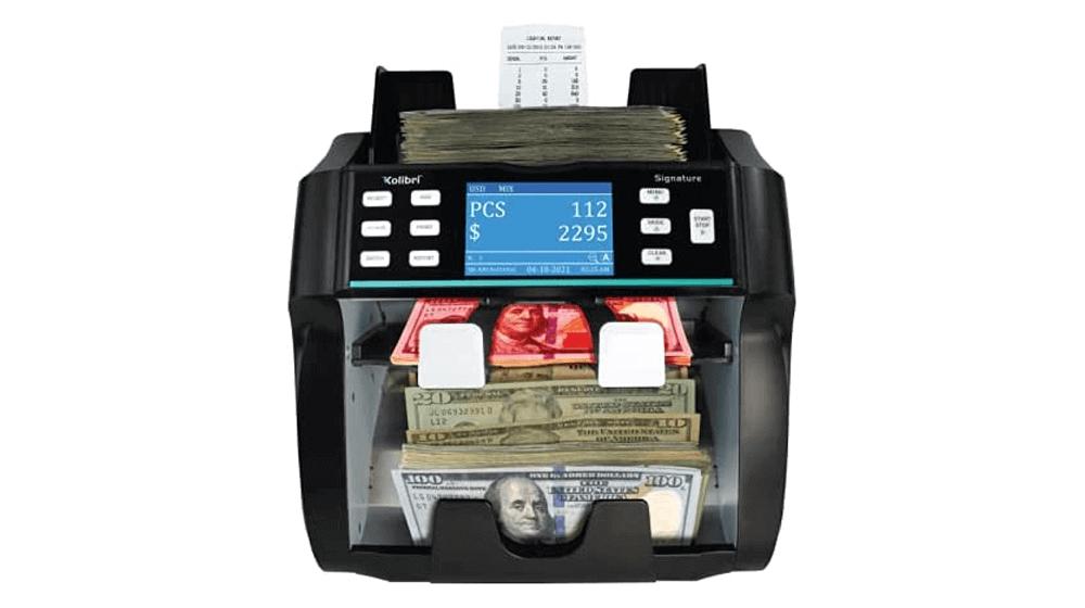 Kolibri Signature 2-Pocket US Bank Grade Mixed Denomination Money Counter Machine