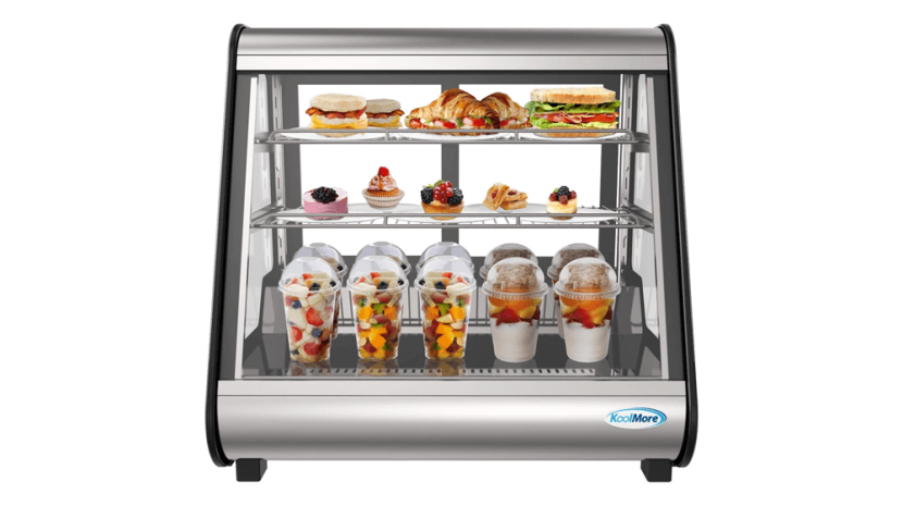 KoolMore - CDC-4C-BK 27-inch Commercial Countertop Refrigerator Display Case