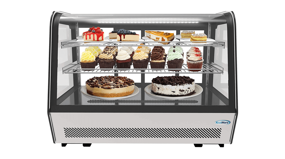 KoolMore - CDC-5C-BK 35-inch NSF Commercial Countertop Refrigerator Display Case