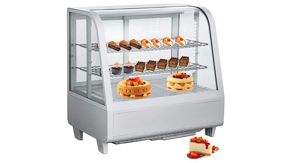 VBENLEM 3.6cu.ft.Commercial Countertop Display Refrigerator